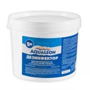 Aqualeon дезинфектор БСХ 4 кг. в таблетках. Быстрорастворимые хлорные таблетки массой 20 гр. для дезинфекции воды бассейна.