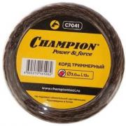 Леска для триммера витой квадрат Champion Magic 3.0мм 12м