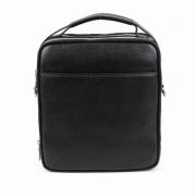 Молодежная мужская сумка-планшет на три отделения из натуральной кожи
