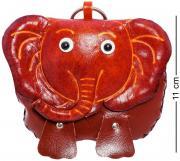 Кошелёк кожаный Слон E191031