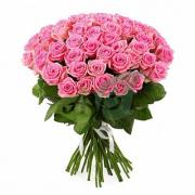 "Букет ""51 розовая роза"" Аква (60 см)"
