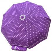 Женский зонт автомат Popular фиолетовый в горошек AM060311