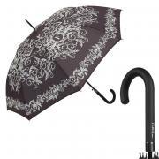 Зонт-трость женский полуавтоматический FERRE MILANO 300-LA белый/черный