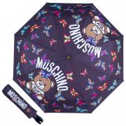 Зонт складной Moschino 8129-OCA Butterfly Bear Black