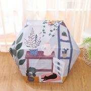 Оригинальный маленький зонт с защитой от УФ, 6 спиц, Япония, с ярким принтом 02