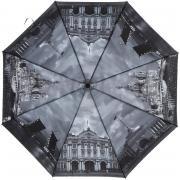 Складной зонт «Центр Петербурга в серых тонах» (автомат)