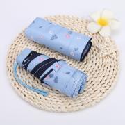 Зонт Женский мини -зонтик, 6 спиц (Япония) голубой