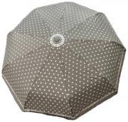 Женский зонт автомат Popular серый в горошек AM060309