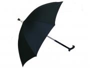 Зонт-трость черный.