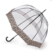 Зонт женский трость бежевый Fulton L866-4037 NaturalLeopard