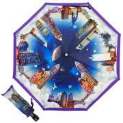 Зонт-автомат Moschino 7002-OCQ Romantic City Purple