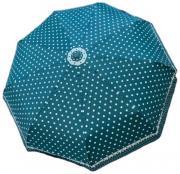 Женский зонт автомат Popular бирюзовый в горошек AM060307