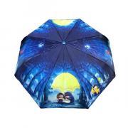 Зонт подростково-женский полуавтоматический Diniya 2271 (Синий)