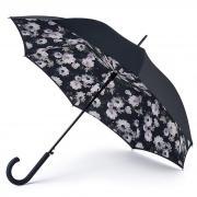 Оригинальный черный зонт трость женский Fulton L754-3640 Duo Bouquet