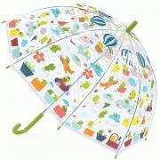 Лягушата 68 см зонт-трость детский прозрачный для детей от 3 лет DJECO DD04808