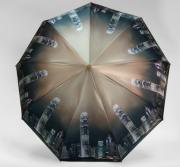 Зонт женский автоматический Pasio 119-14 (Зелено-коричневый)