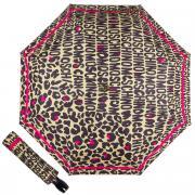 Зонт складной Moschino 8013-OCD Animal Logo Light Brown