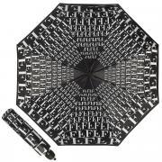 Зонт складной унисекс автоматический FERRE MILANO 6014-OC белый/черный