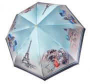 Зонт женский Три Слона 145-Q-01 серо-голубой