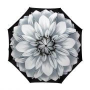 Зонт складной женский автоматический Pasotti Mini Georgin Grigio серебристый