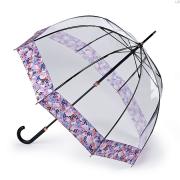 Зонт женский трость комбинированный Fulton L866-4028 DigitalBlossom