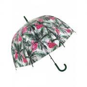 Зонт Mihi Mihi 7413 трость Тропический Фламинго прозрачный купол