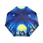 Зонт подростково-женский автоматический Diniya 2270 (Синий)