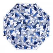 Зонт складной женский автоматический Zemsa 112125 ZM голубой/синий/белый