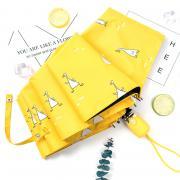 Зонт Женский облегченный зонт, с защитой от УФ, 8 спиц, принт- Утки (желтый)