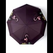 Зонт женский автоматический Diniya 949-7 (Темно-коричневый)