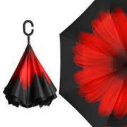 Зонт-наоборот цветок красный