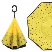 Зонт обратный женский механический Flioraj 120009 FJ желтый