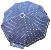 Женский зонт автомат Popular голубой в горошек AM060310