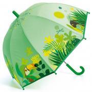 Джунгли и их жители 68 см зонт-трость детский зелёный для детей от 3 лет DJECO DD04702
