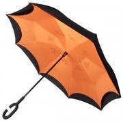 Зонт обратный женский механический Zemsa 120001/1 ZM оранжевый