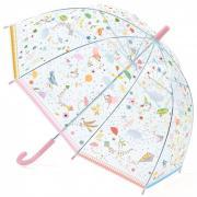 Зонт-трость детский Воздушные змеи прозрачный DJECO DD04805