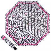 Зонт складной Moschino 8013-OCA Animal Logo Black
