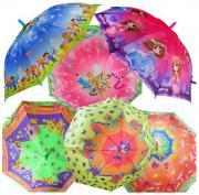 Детский зонт Shantou Gepai UM45 MIX со свистком цветной 45 см