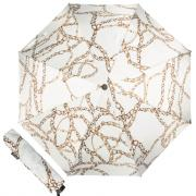 Зонт складной женский автоматический Pasotti Mini Catena белый/золотистый