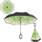 Инновационный обратный зонт (Зеленые листья)