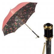 Зонт-трость женский механический Pasotti Magenta розовый/белый/черный