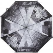 Складной зонт «Петербург с высоты в серых тонах» (автомат)