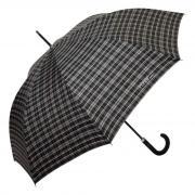 Большой мужской зонт трость в клетку Ferre 642-AU Scottish 6 серый