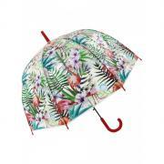 Зонт Mihi Mihi 7410 трость Тропический Фламинго прозрачный купол
