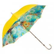 Зонт-трость женский механический Pasotti Yellow желтый/голубой