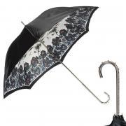 Зонт-трость женский механический Pasotti Nero Shawl Point Nickel белый/черный