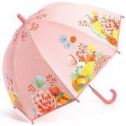 Цветочный сад 68 см зонт-трость детский розовый для детей от 3 лет DJECO DD04701