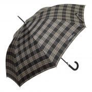 Большой клетчатый зонт трость для мужчины 642-AU Scottish 4 серый
