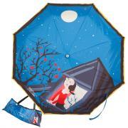 Зонт складной Moschino 7022-OCF Olivia Juliet Blue