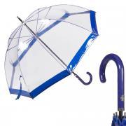 Зонт-трость женский механический M&P C4700-LM Transparent Blu прозрачный/синий